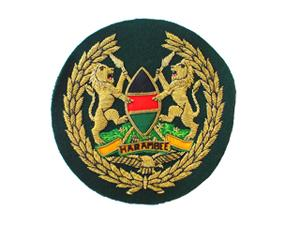 KENYAN AIR FORCE ARM BADGE IN GILT WIRE (4334418001992)