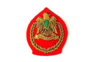LIBYA JUNIOR OFFICERS CAP BADGE (4334422720584)