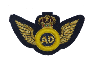 AIR DESPATCH ARM BADGE GOLD WINGS MESS DRESS ON NAVY (4344225169480)