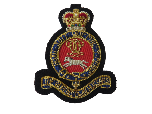 QUEENS OWN HUSSARS BLAZER BADGE (4334346371144)