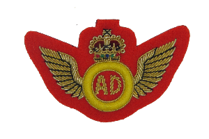 AIR DESPATCH R.A.A.S.C WINGS MESS DRESS ON SCARLET (4344224677960)