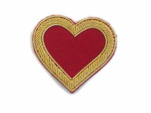 Hand-Embroidered Goldwork Hearts Patches (4334478983240)