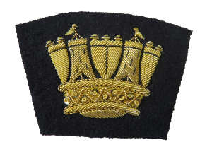 ROYAL NAVY BLAZER BADGE (All Gold) (4334369144904)