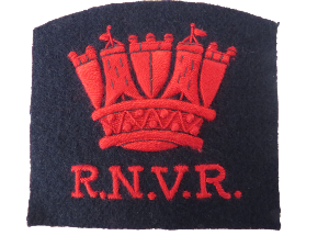 ROYAL NAVY VOLUNTEER RESERVE BLAZER BADGE (RED SILK) (4334369407048)