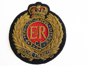 ROYAL ENGINEERS BLAZER BADGE (4334346698824)
