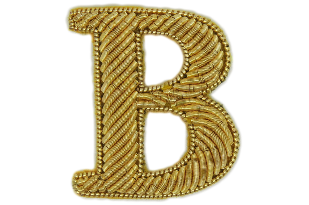 Serif Gold Embroidered Letters (4382370365512)