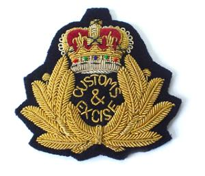 Trinidad and Tobago Customs and Excise Cap Badge (4334432387144)