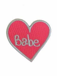 Babe Heart Sew on Patch (4334549336136)