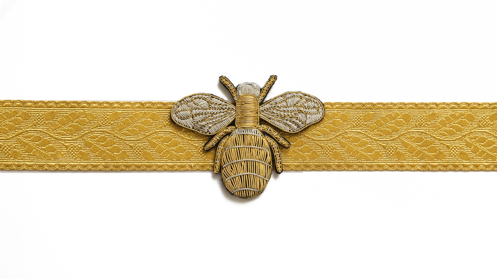 Goldwork Bee Brooch (Large) (4334561984584)
