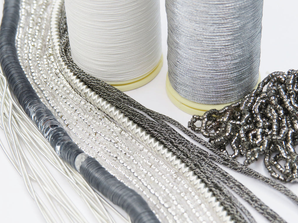 Silver Embroidery Materials Kit (5864119009446)