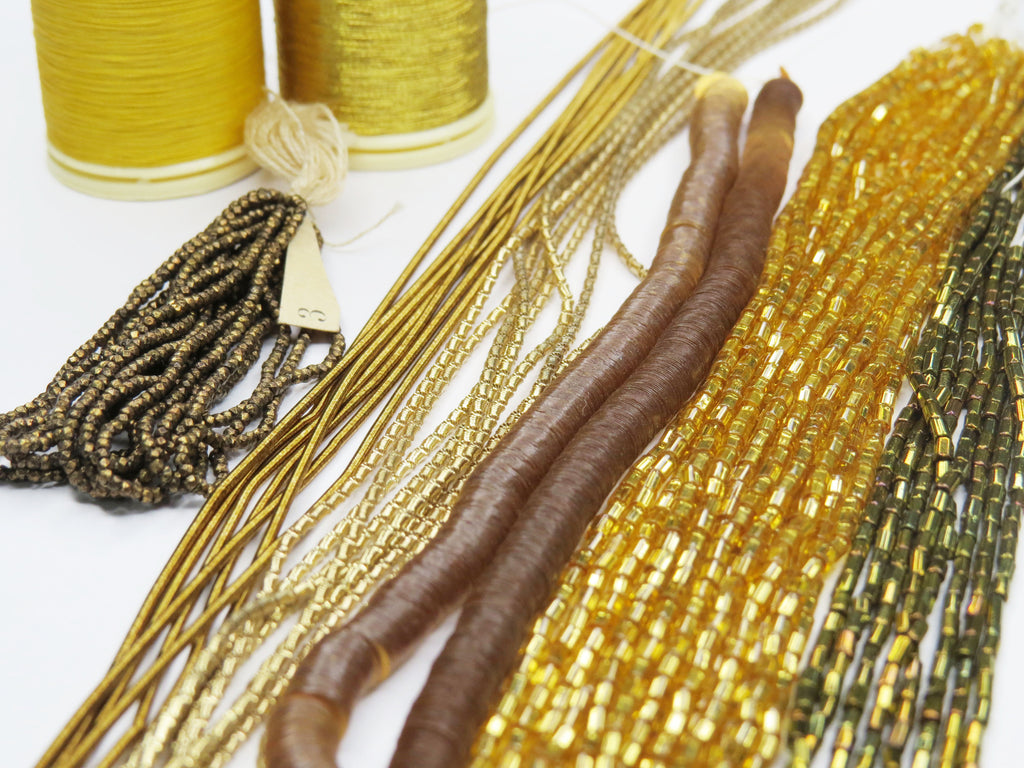 Gold Embroidery Materials Kit (5864110817446)
