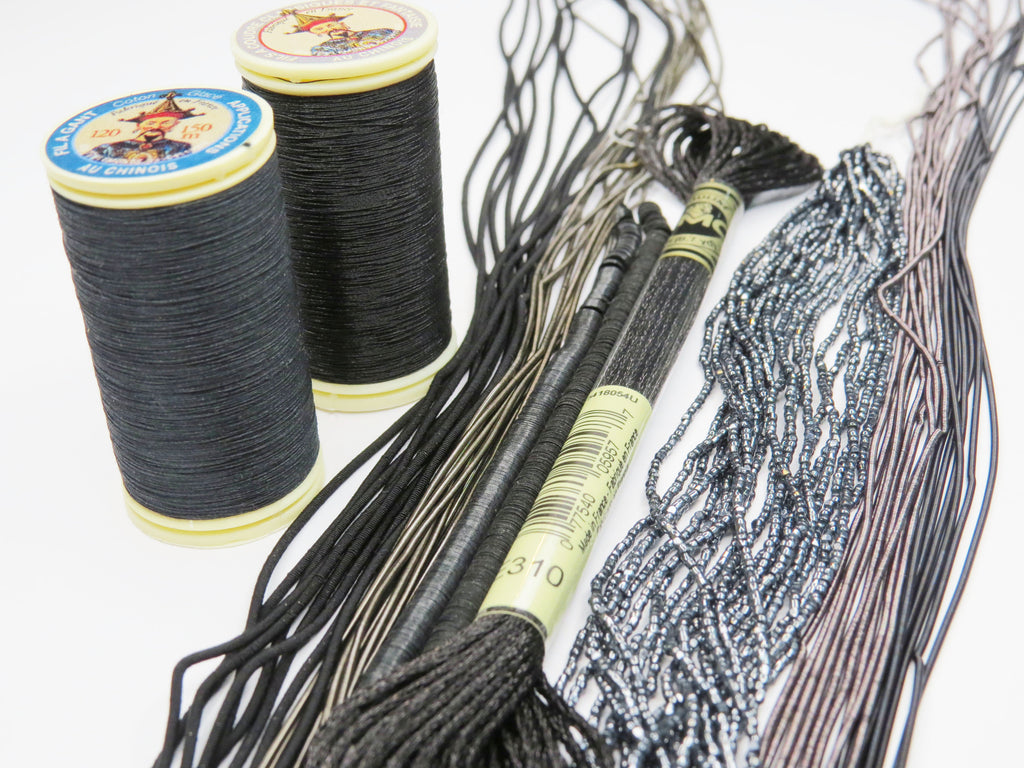 Black Embroidery Materials Kit (5864101380262)