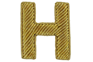 Block Gold Goldwork Letter (4379056504904)