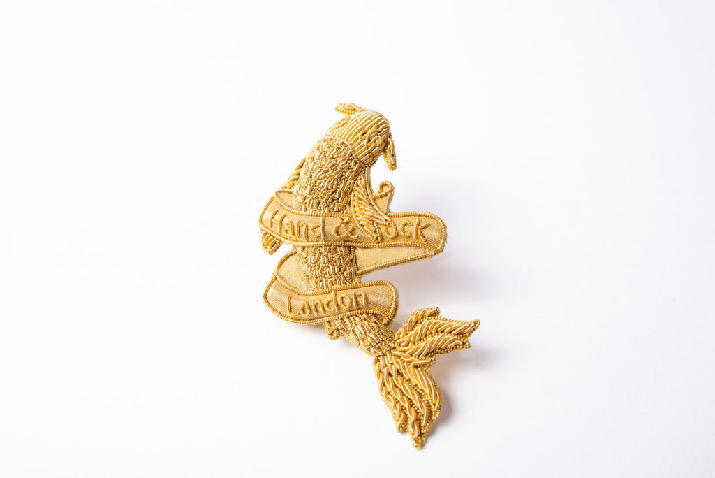 Fish and Banner Brooch (4380300214344)