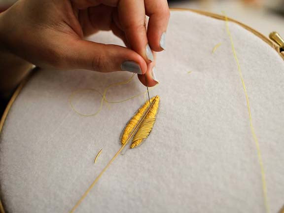Goldwork Taster Class at London Hat Week (4398540161096)
