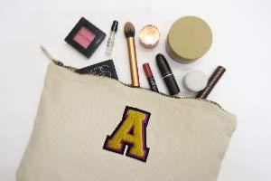 Wash Bag with Varsity Style Monogram (4334657634376)