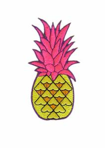Neon Pineapple Iron on Patch (4334483472456)