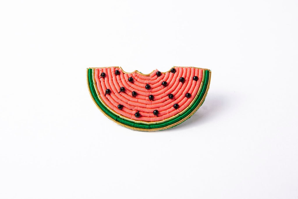 Goldwork Watermelon Brooch (4334657077320)
