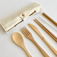 Load image into Gallery viewer, Bamboo Cutlery Roll