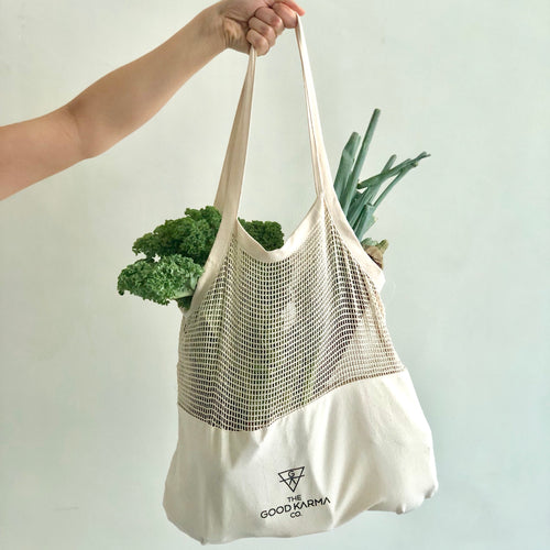 Half Mesh Shoulder Bag