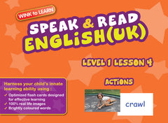 WINKtoLEARN English (UK) Learning Digital Video Streaming Series - Level  1 - Lesson 4 - Actions - Front Cover