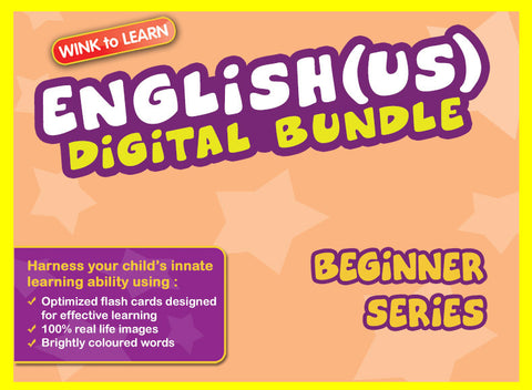 WINKtoLEARN English (US) Digital Bundle - Beginner (Streaming Videos & Digital Flashcards)