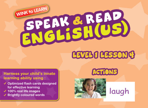Speak & Read Eng (US) FREE Online Digital Video - Level  1 - Lesson 4 - Actions