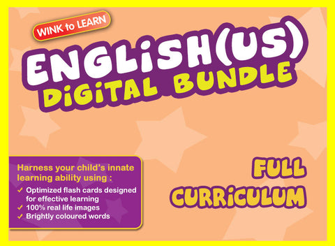 WINKtoLEARN English (US) Online Digital Bundle - Complete (Streaming Videos & Digital Flashcards)