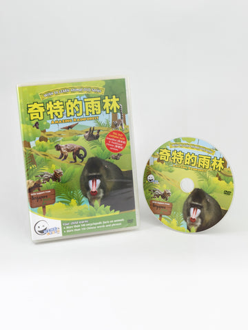 Animal Encyclopedic DVD: Amazing Rainforest (Chinese)