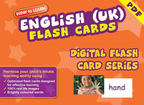 WINK to LEARN English (UK) Online Digital Flash Cards Series