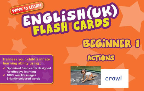 WINKtoLEARN Eng (UK) Digital Flash Cards -  Beginner  1 - Actions  (FREE Trial Pack)
