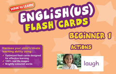 WINKtoLEARN English (US) Digital Flash Cards -  Beginner  1 - Actions  (Free Trial Pack) - Front Cover