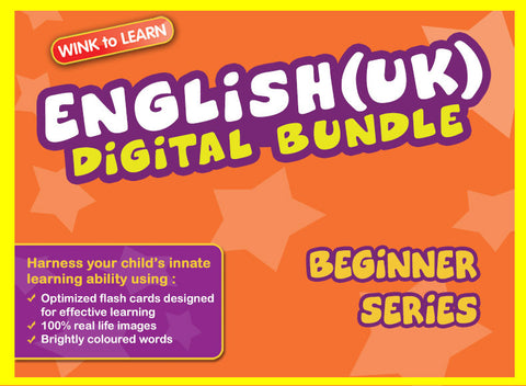 WINKtoLEARN English (UK) Digital Bundle - Beginner (Streaming Videos & Digital Flashcards)