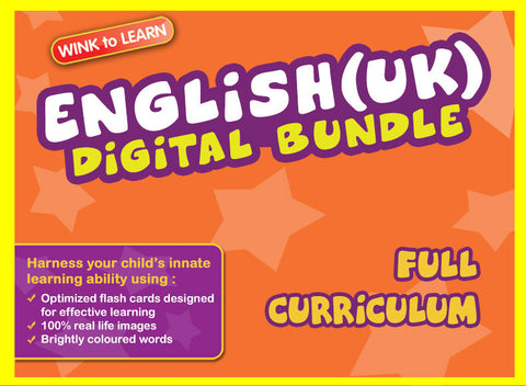 WINKtoLEARN English (UK) Online Digital Bundle - Complete (Streaming Videos & Digital Flashcards)