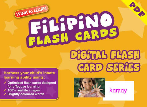 WINK to LEARN Filipino Online Digital Flash Cards Series