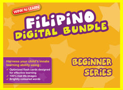 WINKtoLEARN Filipino Digital Bundle - Beginner(Streaming Videos & Digital Flashcards)