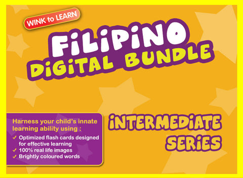 WINKtoLEARN Filipino Digital Bundle - Intermediate (Streaming Videos & Digital Flashcards)