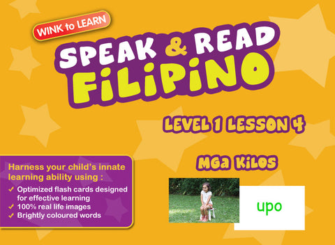 Speak & Read Filipino FREE Online Digital Video - Level  1 - Lesson 4 - Actions