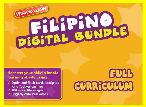 WINKtoLEARN Filipino Online Digital Bundle - Complete (Streaming Videos & Digital Flashcards)
