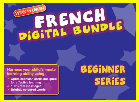WINKtoLEARN French Digital Bundle - Beginner(Streaming Videos & Digital Flashcards)