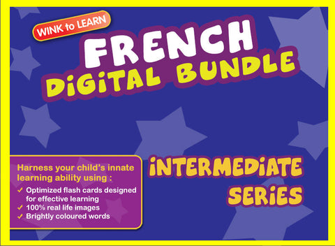 WINKtoLEARN French Digital Bundle - Intermediate (Streaming Videos & Digital Flashcards)