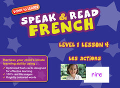 WINKtoLEARN French Learning Digital Video Streaming Series - Level  1 - Lesson 4 - Actions - Front Cover