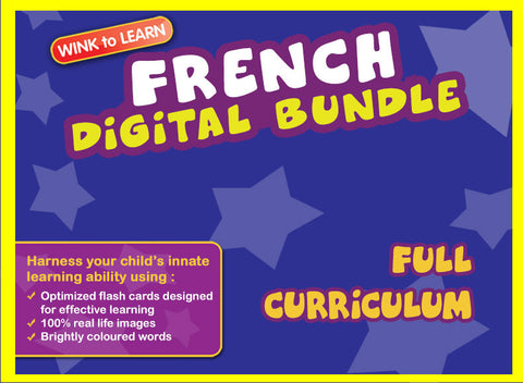 WINKtoLEARN French Online Digital Bundle - Complete (Streaming Videos & Digital Flashcards)