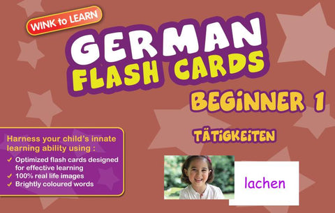 WINKtoLEARN German Digital Flash Cards -  Beginner  1 - Actions  (FREE Trial Pack)