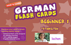 WINKtoLEARN German Digital Flash Cards -  Beginner  1 - Actions  (Free Trial Pack) - Front Cover