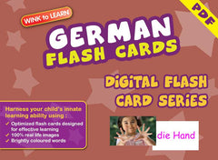 WINK to LEARN German Online Digital Flash Cards Series