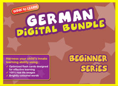 WINKtoLEARN German Digital Bundle - Beginner(Streaming Videos & Digital Flashcards)