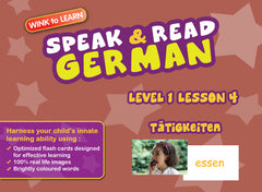 WINKtoLEARN German Learning Digital Video Streaming Series - Level  1 - Lesson 4 - Actions - Front Cover