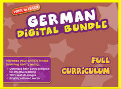 WINKtoLEARN German Online Digital Bundle - Complete (Streaming Videos & Digital Flashcards)