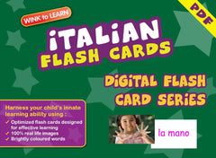WINK to LEARN Italian Online Digital Flash Cards Series